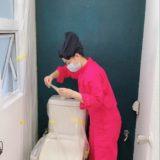 トイレのイメチェン♡怒涛のペンキ塗り!ラデュールの営業ラストデイ🎵リニューアル⑥