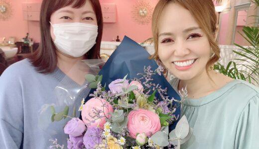 皆さま!お祝い本当にありがとうございます♡お花を頂きました❤️